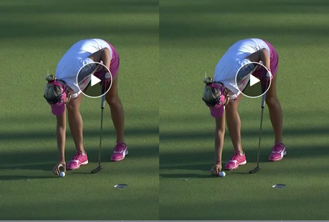 Comparison of Lexi before and after moving her ball