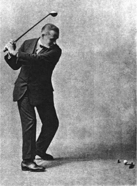Edgar of top of backswing