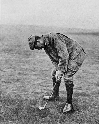 Vardon's putting stroke, as seen from his left