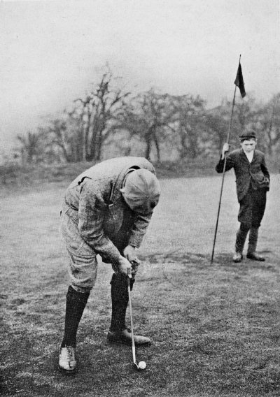 Vardon's putting stroke, as seen from his rightt