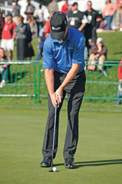 Zach Johnson putting